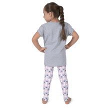 Elephant Wave Pattern Leggings - Pink and Blue