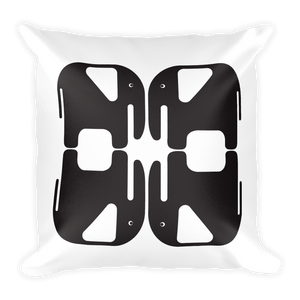 Elephants Square Pillow - Black and White