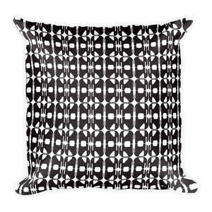 Elephants Pattern Square Pillow - Black and White