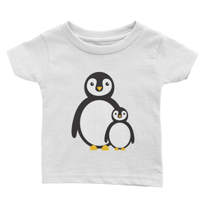 Penguin Momma and Baby Infant Tee