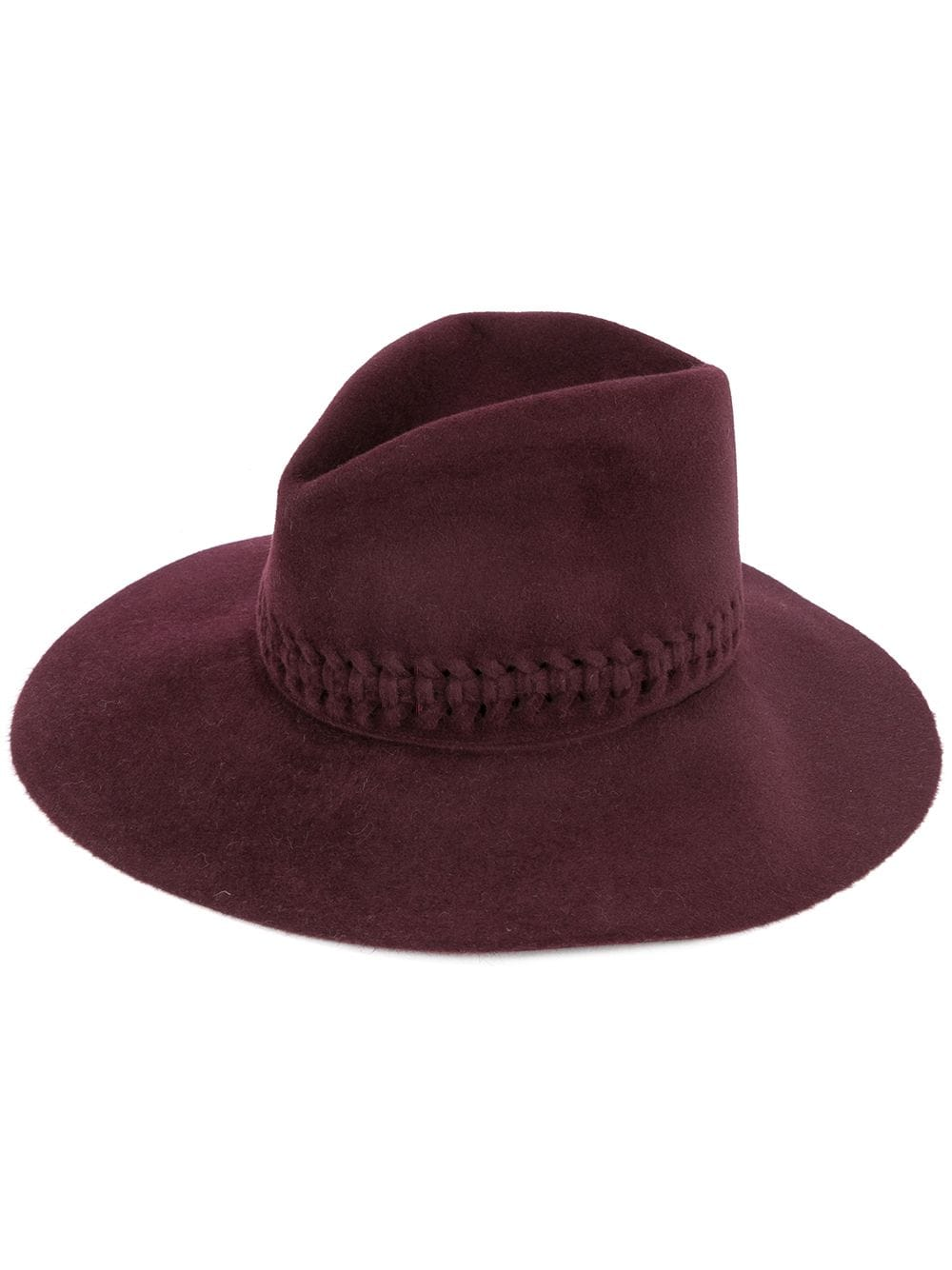 Lola Fretwork Hat in Garnet