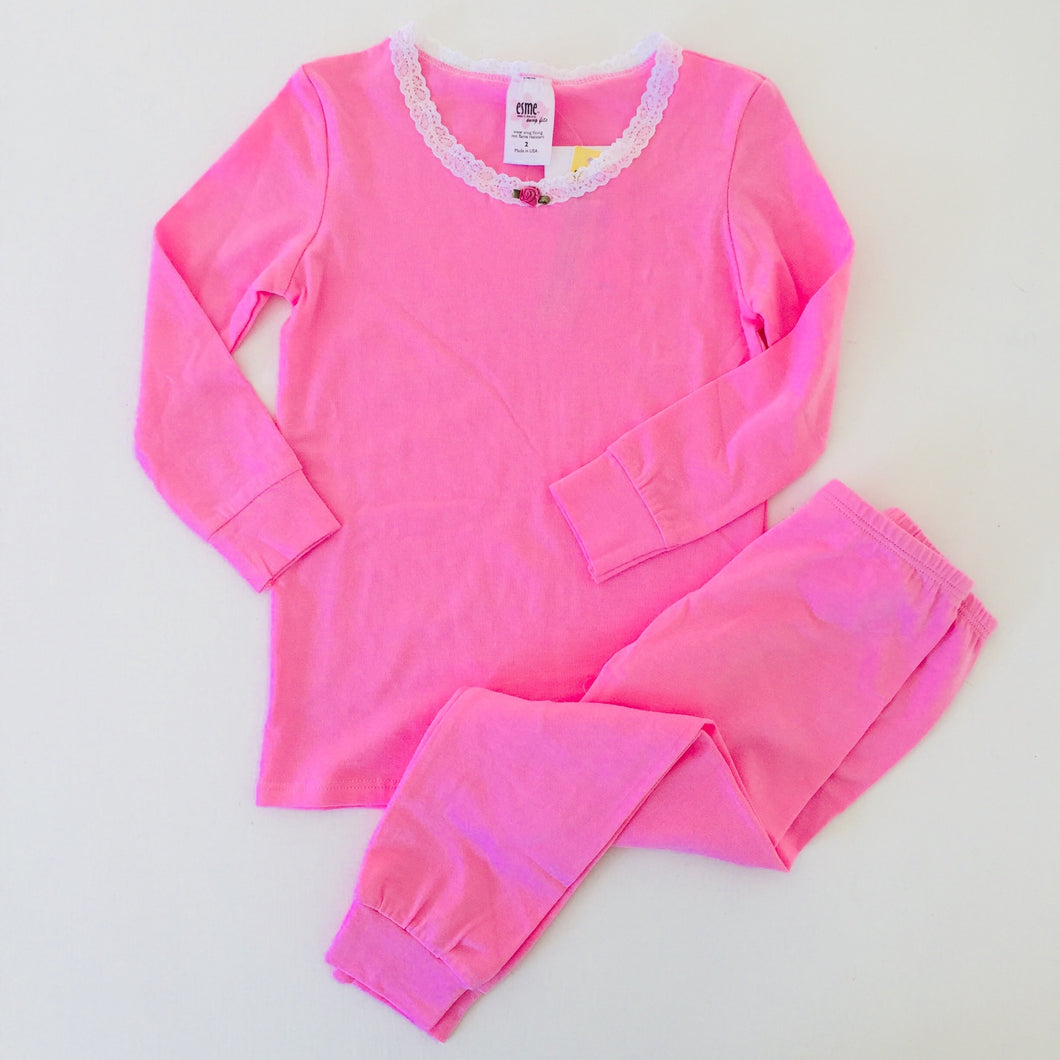 Esme PJs in Light Pink