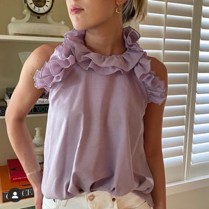 Tish Cox Sleeveless Kate Top in Lilac