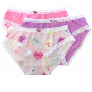 Esme 3 Pack Underwear in Candy Heart