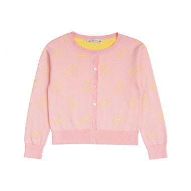 Bonpoint Cherry Cardigan in Candy Pink