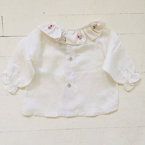 Poeme & Poesie Heirloom Blouse with Scattered Roses Colloar