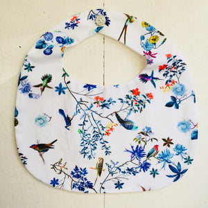 Makie Liberty Blue Cool Color Bib With Birds