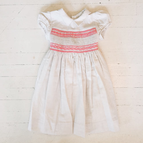Bonpoint Mandoline Sparkle Smocked Dress