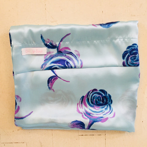 Oh So Lux Blue Rose Standard Pillow Case