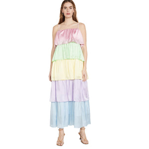 Olivia Rubin Cici Dress in Neapolitan Color Block