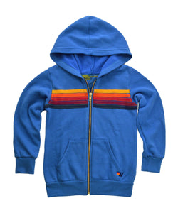 Aviator Nation Kids 5 Stripe Hoodie in Cobalt