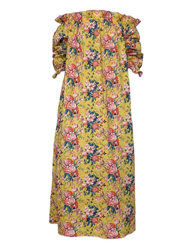 Casey Marks Yellow Chintz Grace Dress