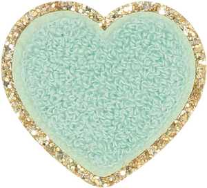 Stoney Clover Glitter Heart Patch in Pistachio