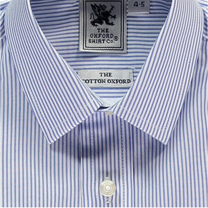 Oxford Classic Buttondown in Thin Blue Stripe