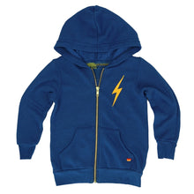 Aviator Nation Boys Bolt Zip Hoodie in Royal