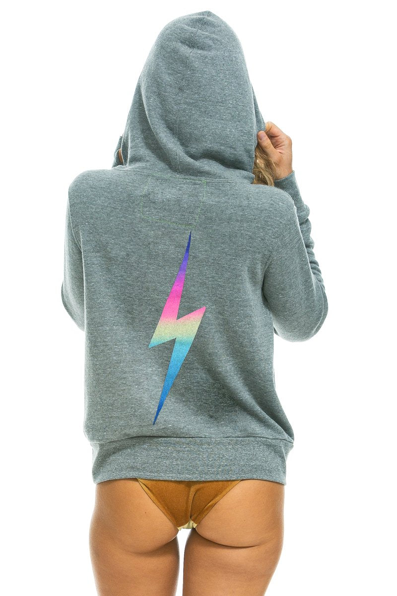 Aviator Nation Bolt Hoodie in Heather Grey