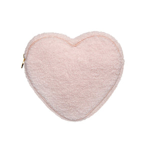 Stoney Clover Lane Cozy Heart Pouch in Rose
