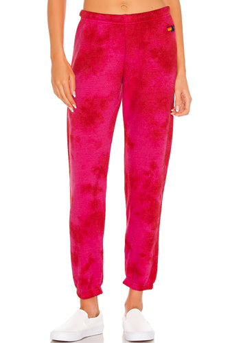 Aviator Nation Hand Dyed Sweatpants in Pink