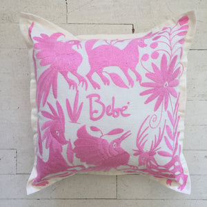 Light Pink Embroidered Baby Pillow