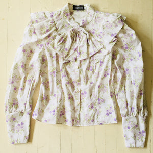 Tracy Feith Purple Floral Top
