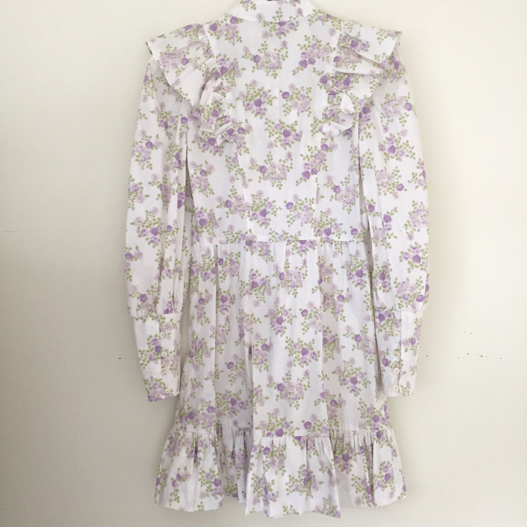 Tracy Feith Short Purple Floral Dress