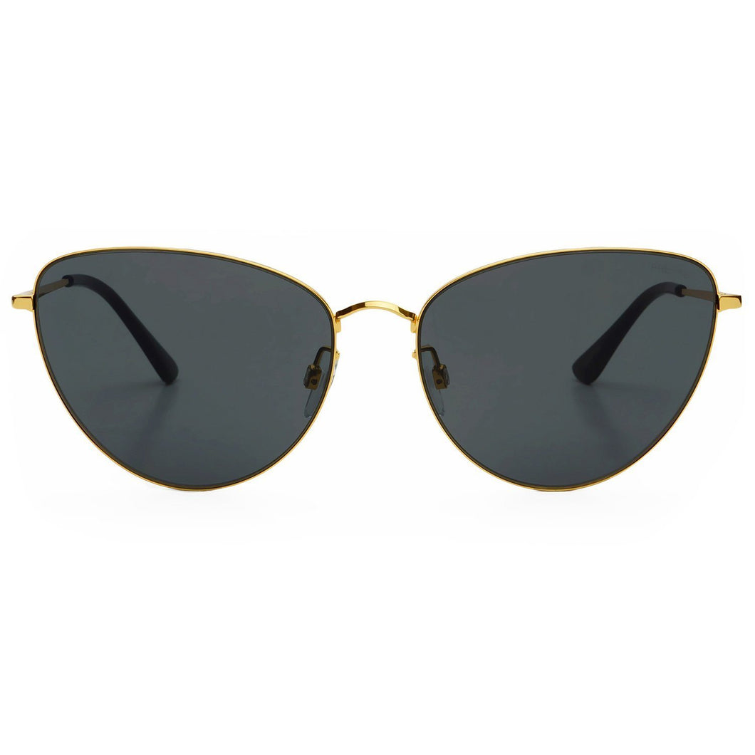 Freyrs Eva Sunglasses in Gold Grey