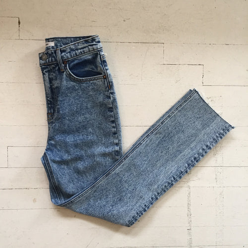 GRLFRND Reed High Rise Acid Wash Jeans