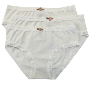 Esme 3 Pack of Underwear in White