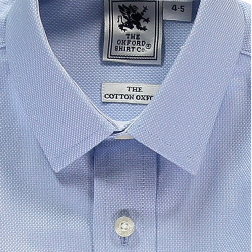 Oxford Classic Buttondown in Blue Pique