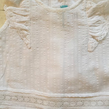 Poeme & Poesie White Dobby Top & Bloomers with Lace Detail