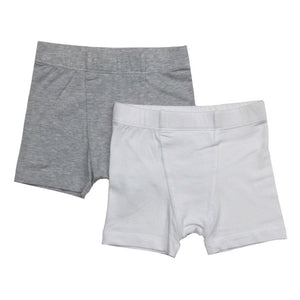Esme 2 Pack of Boxer Briefs in Grey & White