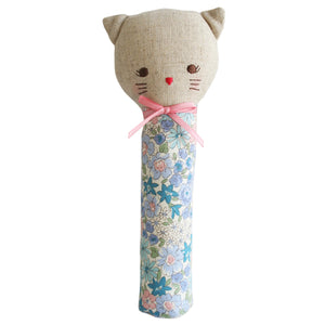 Alimrose Kitty Squeaker in Blue Floral