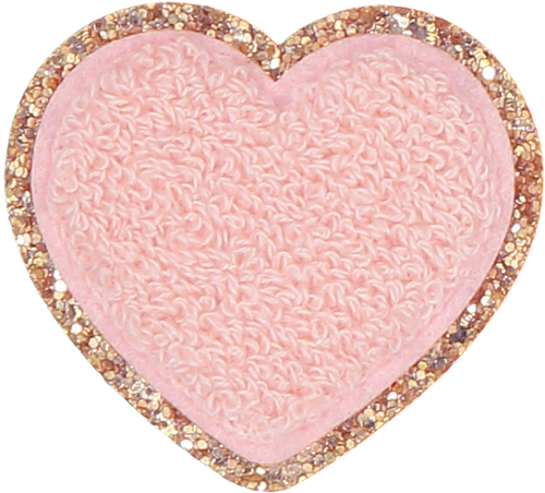 Stoney Clover Glitter Heart Patch in Sparkling Cider