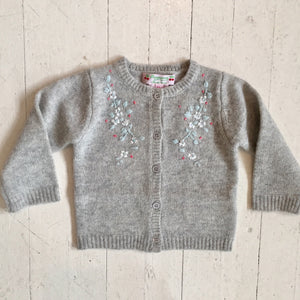 Bonpoint Embroidered Grey Sweater