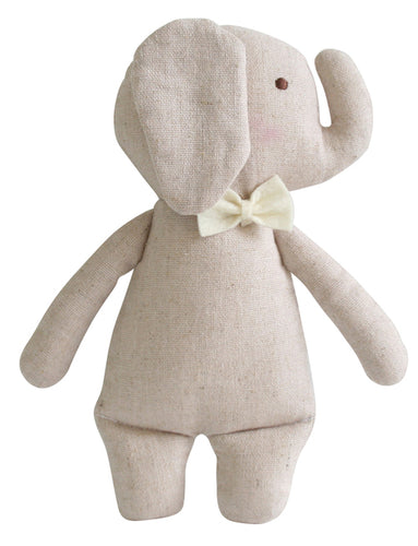 Alimrose  Linen Mini Elephant Rattle