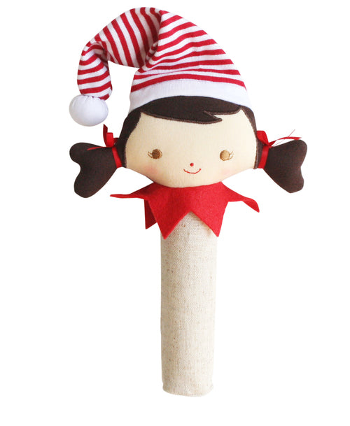 Alimrose Linen Elf Girl Squeaker and Rattle