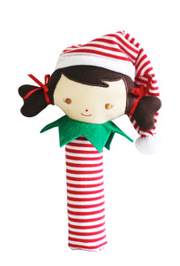 Alimrose Cheeky Elf Girl Squeaker and Rattle