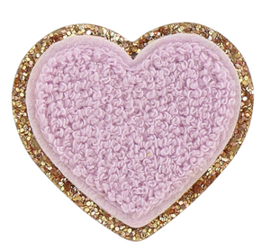 Stoney Clover Glitter Heart Patch in Lilac