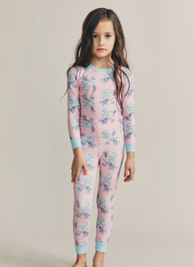 Love Shack Fancy x Morgan Lane Lulu PJ Set in Candy Pink