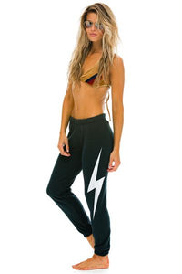 Aviator Nation Women's Bolt Sweatpants in Charcoal