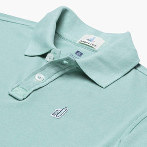Johnnie-O Duncan Jr. Washed Garment Dyed Pique Polo in Mojito
