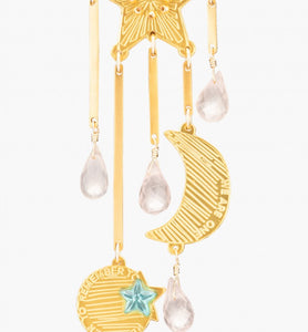 Mercedes Salazar Magic Star with Rose Quartz Earrings