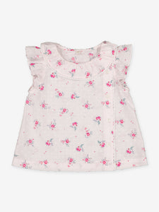 Petite Lucette Suzette Blouse in Pink Flowers