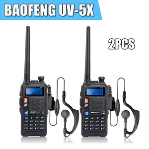2pcs/lot BAOFENG UV-5X W/  Dual Band Two-Way Radio Walkie Talkie