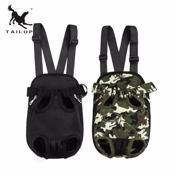 TAILUP Patent Products Mesh Ventilation Fashion Pet Carrier Dog Backpack Chest Bag Durable Canvas Puppy Outdoor Pet Backpack