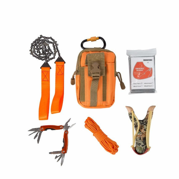 Climbing Bag Survival Kit Paracord / slingshot/ Wire Saw Folding/ Plier