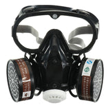Respirator Gas Mask Safety Chemical Anti-Dust Filter Military Eye Goggle Set