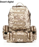Molle Assault Tactical Bag Outdoor Army Military Rucksacks Backpack - 50L