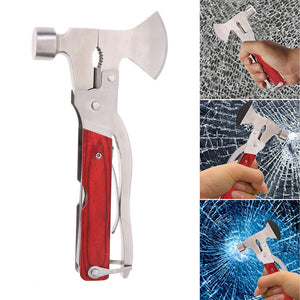8 in1 Multi-function Stainless Steel Auto Emergency Kit Tool With Safety Hammer