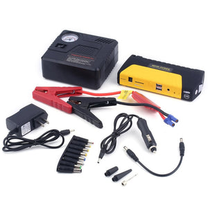 Portable 68800mah USB  Auto Engine Car Jump Starter/charger With Air Pump Set